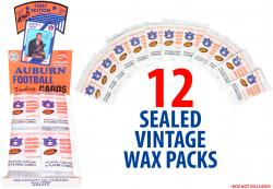 Auburn Tigers 1989 Collegiate Collection 12 Sealed Vintage Wax Packs - Mounted Memories  - Mounted Memories