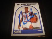 1989 NBA HOOPS #344 MICHAEL WILLIAMS RC SUNS Baylor SIGNED AUTHENTIC AUTOGRAPH