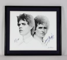 1989 Rolling Stones – Mick Jagger & Keith Richards Signed 20×24 Artwork (JSA Full LOA)