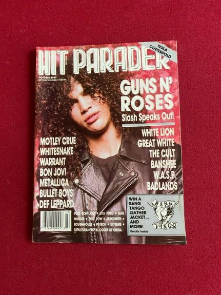 "1989, Slash / GUNS N' ROSES , ""HIT PARADER"" Magazine (No Label) Vintage / Scarce"