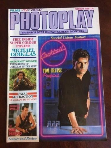 """1989 Tom Cruise, """"Cocktail"""", """"Photoplay"""" Magazine (No Label)"""