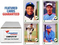 1989 Upper Deck Baseball Complete Set of 800 Cards - Mounted Memories