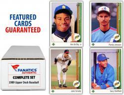 1989 Upper Deck Baseball Complete Set of 800 Cards