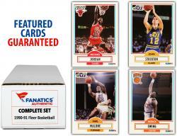 1990-91 Fleer Basketball Complete Set of 198 Cards