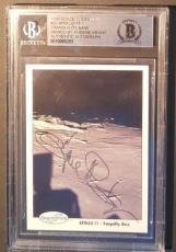 1990 Eugene Kranz Apollo 11 13 Space Shots Ventures Signed BAS BECKETT AUTO NASA