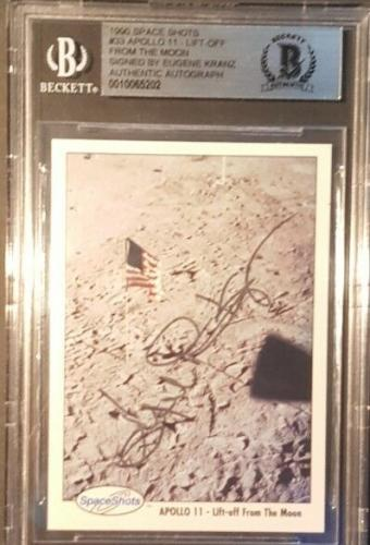 1990 Eugene Kranz Apollo 11 13 Space Shots Ventures Signed BAS BECKETT AUTO NASA