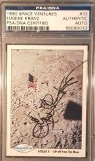 1990 Eugene Kranz Apollo 11 Space Shots Ventures Signed PSA/DNA MINT AUTO NASA