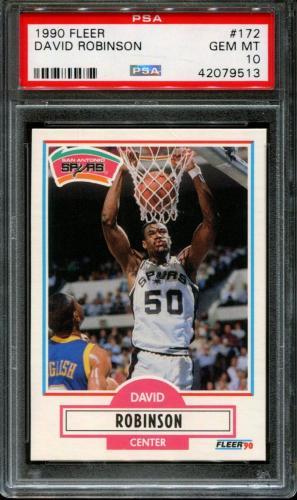 1990 Fleer #172 David Robinson Spurs Hof Psa 10 K2629219-513