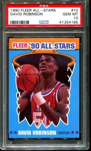 1990 Fleer All-stars #10 David Robinson Spurs Hof Psa 10 K2604301-185