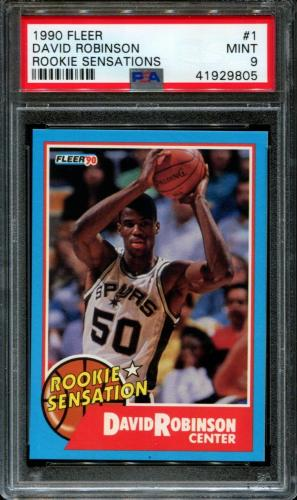 1990 Fleer Rookie Sensations #1 David Robinson Spurs Hof Psa 9 K2620815-805