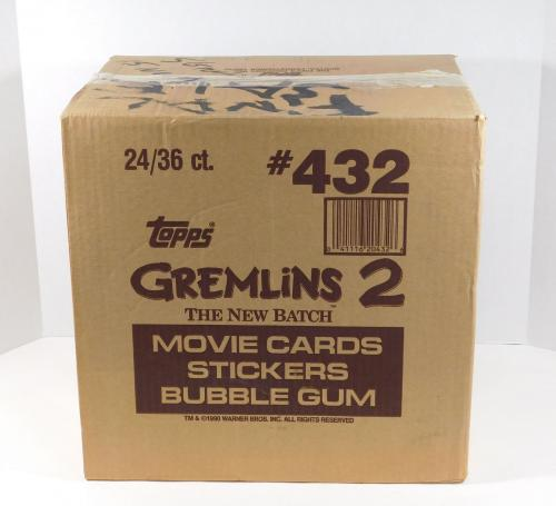 1990 Topps Gremlins 2 The New Batch Trading Card Case 24 Boxes