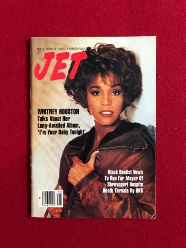 "1990, Whitney Houston, ""JET"" Magazine (No Label) Scarce"