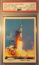 1991 Eugene Kranz Apollo 11 13 Space Shots Ventures Signed PSA EX MINT AUTO NASA