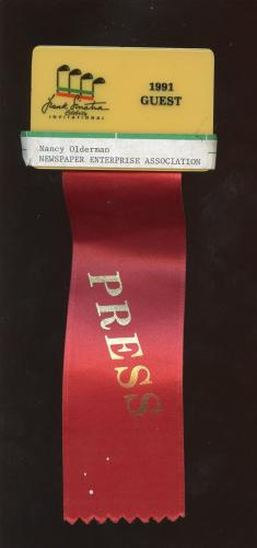 1991 Frank Sinatra Celebrity Invitational Press Badge