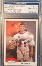 1991 Fred Haise Apollo 13 Space Shots Ventures Signed PSA/DNA NM-MT 8 AUTO NASA