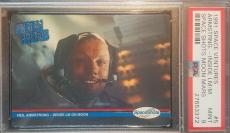 1991 Neil Armstrong Spece Shots Ventures Moon Mars Apollo 11 Graded PSA MINT 9