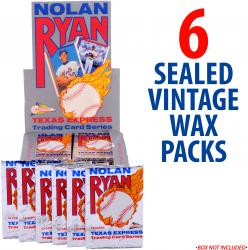 1991 Pacific Nolan Ryan Baseball 6 Packages of Wax Packs