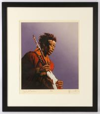 1991 Ronnie Wood, Rolling Stones, Jimi Hendrix, LE Screenprint on Somerset Paper