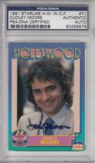 1991 Starline Hollywood Dudley Moore Signed Auto Psa Dna Certified