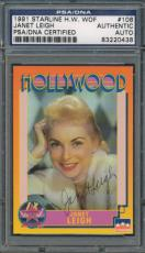 1991 Starline H.W. WOF #108 Janet Leigh PSA/DNA Certified Authentic Auto *0438