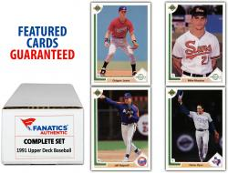 1991 Upper Deck Baseball Complete Set of 800 Cards - Mounted Memories