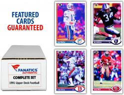 1991 Upper Deck Football Complete Set of 700 Cards