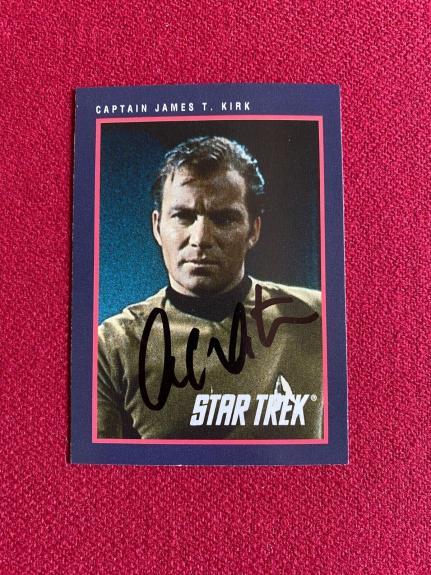 "1991, William Shatner (Capt. Kirk), ""Autographed"" (Beckett) Star Trek Card"