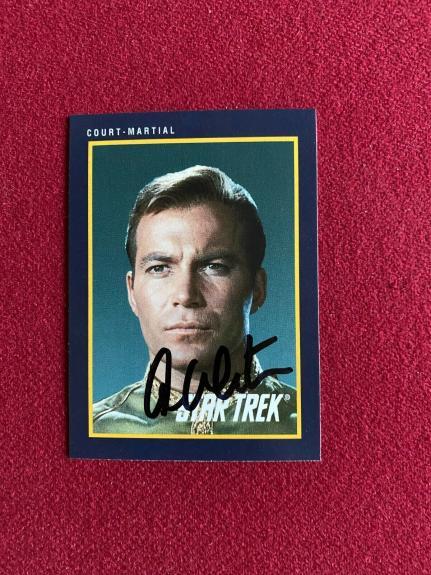 "1991, William Shatner (Capt. Kirk), ""Autographed"" (JSA) Star Trek Card"