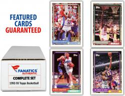 1992-93 Topps Basketball Complete Set of 408 Cards - Mounted Memories