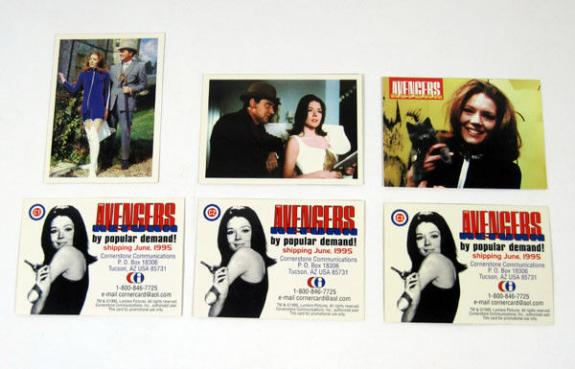 1992 Cornerstone The Avengers Return Promo Card Set (3) Nm/Mt