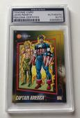 1992 Marvel Origins John Romita Captain America Signed Auto Card PSA/DNA