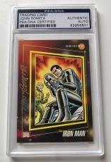 1992 Marvel Origins John Romita Iron Man Signed Auto Card PSA/DNA