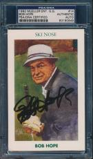 1992 Mueller Ent G.g. Card #14 Bob Hope Signed Card Psa/dna Rare