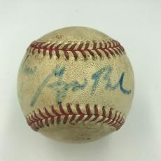 1992 President George W Bush Signed Game Used Baseball Rare Rangers Inscrip JSA