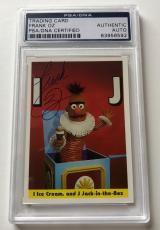 1992 Sesame Street Bert & Ernie Frank Oz Not Star WARS Signed Auto Card PSA/DNA