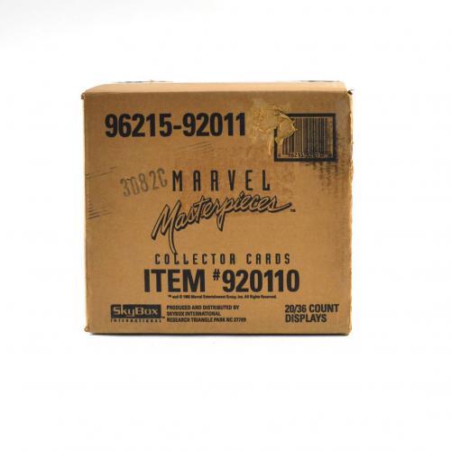 1992 Skybox Marvel Masterpieces  Wax Box EMPTY Case #96215-92011 20/36 ct. 695
