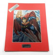 1993 ChromArt Superman Collector's Edition Chromium Print 11x14 Matted