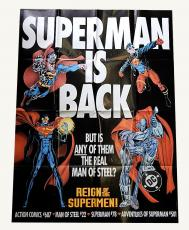 1993 Superman Is Back Jumbo Poster 39.5 x 53.75 ^ Reign of the Supermen