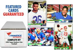 1993 Topps Stadium Club Football Complete Set Series 1 & 2 579 Card Limited Edition Members Only Set