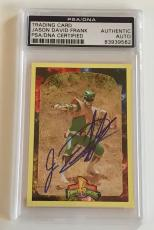 1994 Jason David Frank Green Power Ranger Signed Trading Card #122 PSA/DNA SLAB