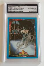 1994 Jason David Frank Green Power Ranger Signed Trading Card #24 PSA/DNA SLAB