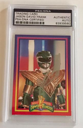 1994 Jason David Frank Green Power Ranger Signed Trading Card #37 PSA/DNA SLAB
