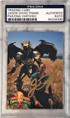 1994 Jason David Frank Green Power Ranger Signed Trading Card #39 PSA/DNA SLAB
