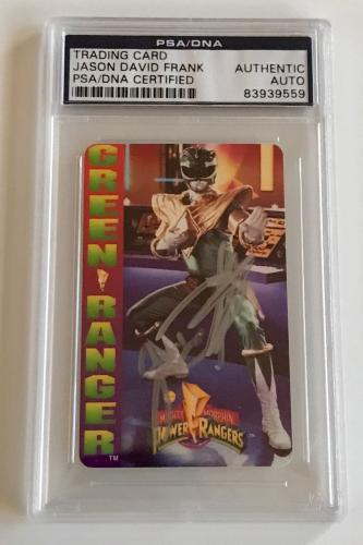 1994 Jason David Frank Green Power Ranger Signed Trading Card #6 PSA/DNA SLAB