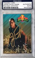 1994 Jason David Frank Green Power Ranger Signed Trading Card #70 PSA/DNA SLAB