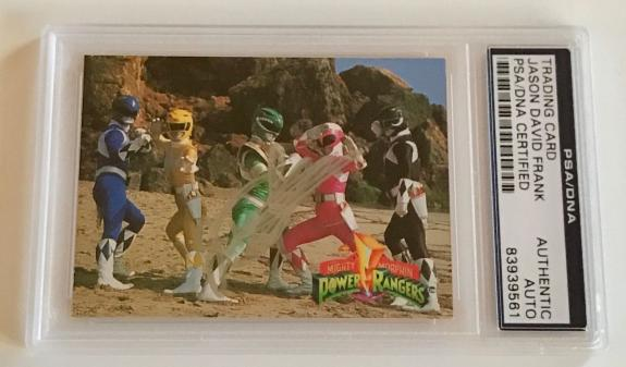 1994 Jason David Frank Green Power Ranger Signed Trading Card #9 PSA/DNA SLAB