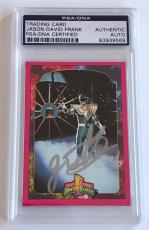1994 Jason David Frank Green Power Ranger Signed Trading Card #96R PSA/DNA SLAB