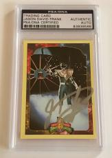 1994 Jason David Frank Green Power Ranger Signed Trading Card #96Y PSA/DNA SLAB
