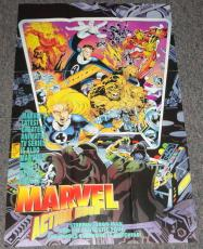 1994 Marvel Action Hour 22x34 Poster Fantastic Four Iron Man