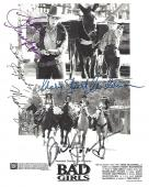 """1994 Movie """"BAD GIRLS"""" Signed by MADELINE STOWE as CODY, MARY STUART MASTERSON as ANITA, ANDIE MACDOWELL as EILEEN, and DREW BARRYMORE as LILLY - Signed 8x10 B/W Photo"""